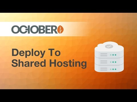 Making websites with October CMS - Part 46 - Deploying to Shared Hosting