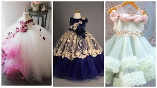 Latest Stylish Floral Maxi Dress Design Ideas For Baby Girls