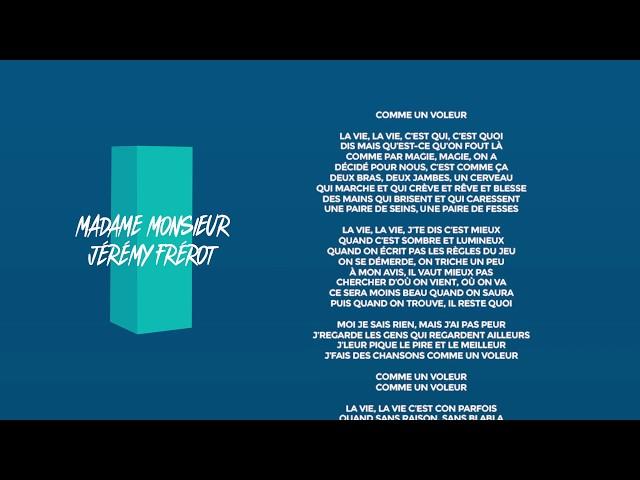 Comme un voleur (Feat. Jérémy Frérot) - MADAME MONSIEUR