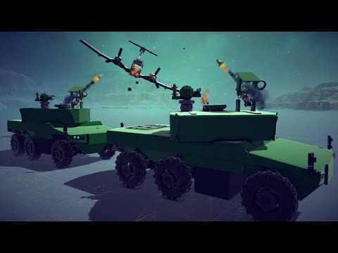 Attack Planes Vs Armored Vehicles   Besiege