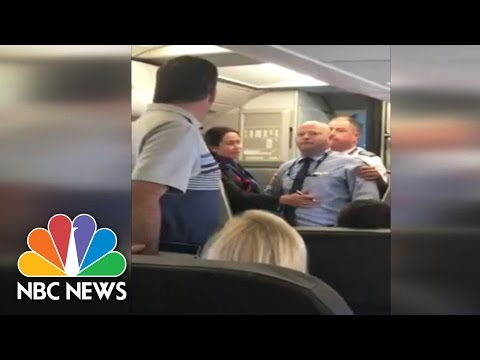 American Airlines Flight Attendant Suspended After Incident Caught On Camera | NBC News