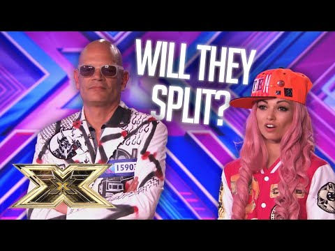 SHE DIDN'T EVEN HESITATE! Married duo 'Kitten and The Hip' face a tough decision! | The X Factor UK