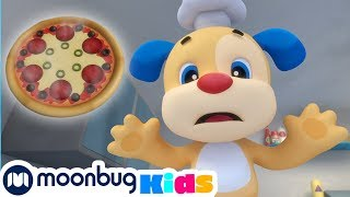 Laugh and Learn with Fisher Price - Pizza Song! | Educational Cartoons for Kids | Moonbug Kids TV