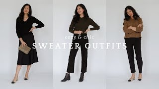 Cozy & Chic Sweater Outfits | How To Style Sweaters