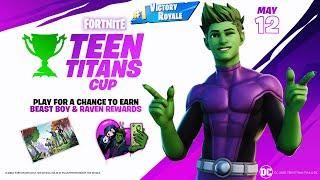 We Unlocked the Beast Boy Skin Early! (Fortnite Teen Titans Cup)