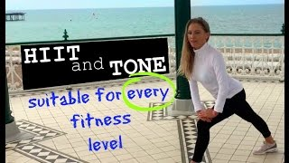 HIIT AND FULL BODY TONING WORKOUT - Suits every fitness level - fat burning and full body sculpting