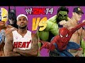 WWE 2K14: LeBron James, Rey Mysterio & Batman VS Hulk, John Cena & Spide...