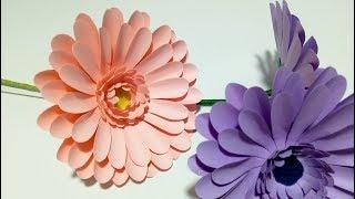Como Hacer Flores De Papel (Gerberas) Super Faciles Y Rapidas | DIY Manualidades #76