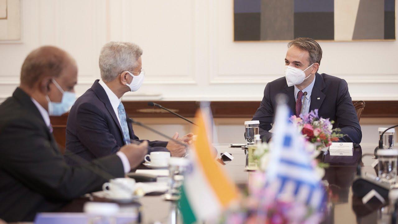 Συνάντηση Κυριάκου Μητσοτάκη με τον Υπουργό Εξωτερικών της Ινδίας, Dr. Subrahmanyam Jaishankar
