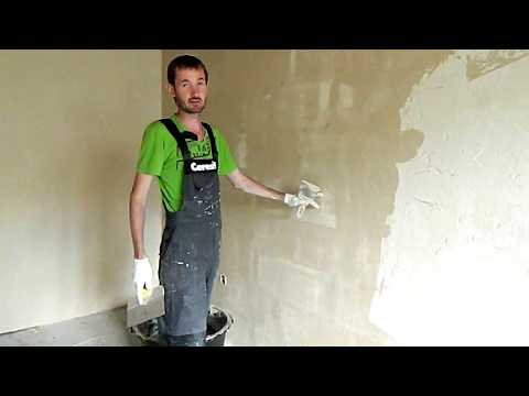 Бюджетный ремонт. Штукатурка стен без маяков. #1