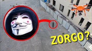 DRONE CATCHES PROJECT ZORGO PZ9?!! AT ABANDONED BUILDING (OMG HE'S ACTUALLY REAL)