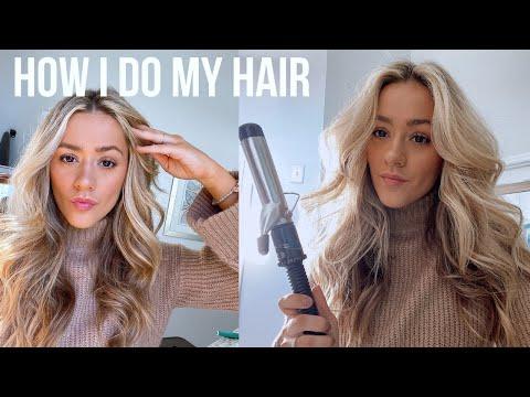 How I Curl My Hair   BIG CURLS TUTORIAL