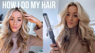 How I Curl My Hair | BIG CURLS TUTORIAL