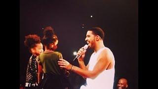 """Drake Sings To His 2 Nieces Sade and Spirit Live On Stage  """"Hold On We're Going Home"""" :full"""