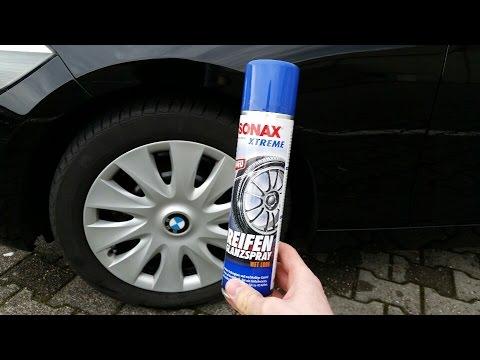 Reifen auffrischen / Sonax Xtreme Reifenglanzspray