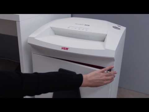 Video of the HSM SECURIO B26 CC-4 Shredder