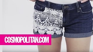 How To Add Lace To Your Shorts | Cosmopolitan