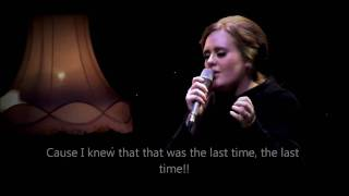 """Adele - Set fire to the rain """"OFFICIAL VIDEO LYRICS"""" HD (live from Tabernacle, London)"""