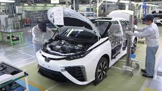 Как собирают Тойота в Японии. Обзор линии сборки и установка агрегатов.