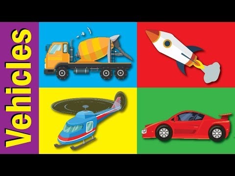 Learn Vehicles & Transportation Names | Fun Kids English