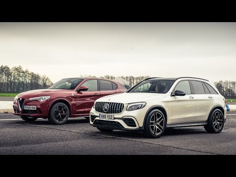 Alfa Romeo Stelvio QV vs Mercedes-AMG GLC 63 | Drag Races | Top Gear