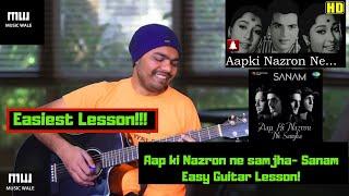 (Cover) Aap Ki Nazron Ne Samjha| Easy Guitar Lesson| Lata Mangeshkar | Sanam| Music wale
