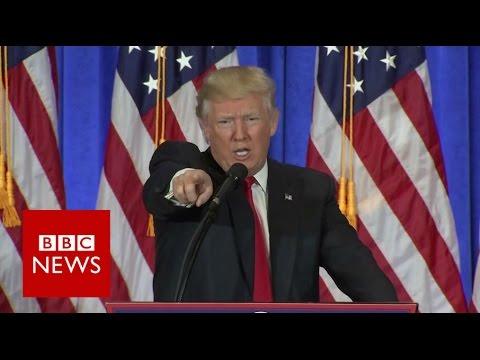 Donald Trump shuts down CNN reporter - BBC News