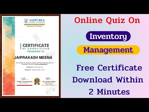 Inventory Management Free Certification || Free Online Courses ...