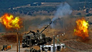 video: Hizbollah fires barrage of rockets into Israel in 'very dangerous' escalation of violence