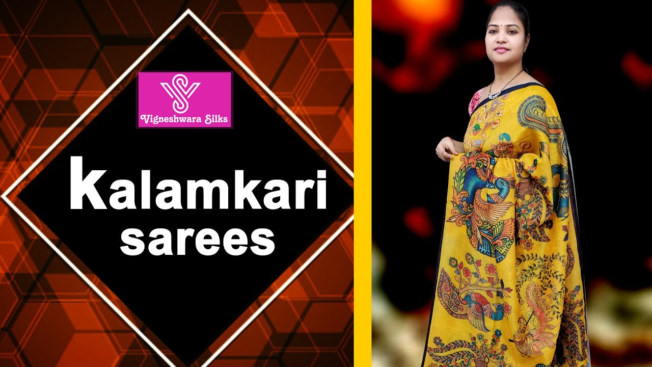 "<p style=""color: red"">Video : </p>kalamkari sarees     Vigneshwara Silks    2021-01-09"