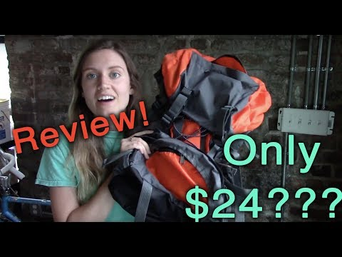 THE BEST, MOST INEXPENSIVE HIKING BACKPACK!!!! ( $24, 55L! Review)