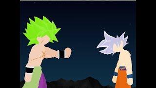 Mastered Ultra Instinct Goku Vs Broly Stick Fight