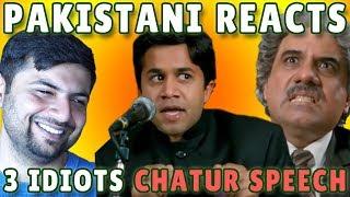 Pakistani Reacts to 3 idiots Chatur's Speech