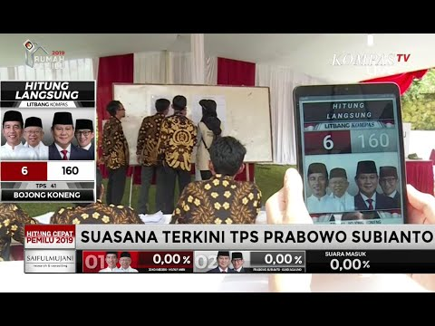 Suasana Penghitungan Suara di TPS Prabowo Subianto
