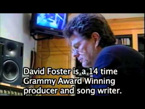 In the recording studio with Grammy Award Winning Producer, David Foster.