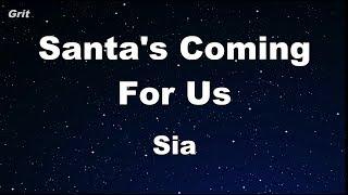 Santa's Coming For Us   Sia Karaoke 【No Guide Melody】 Instrumental