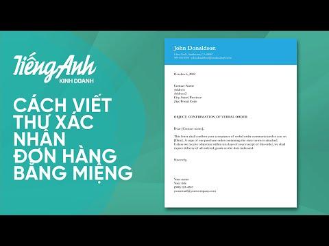 12. Cách viết Thư xác nhận đơn hàng bằng miệng   SAGA - TIẾNG ANH KINH DOANH