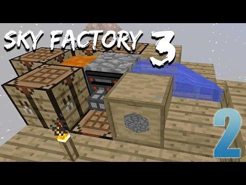 Auto Cobblestone Generator!!!! - FTB Sky Factory 3 - Ep  2