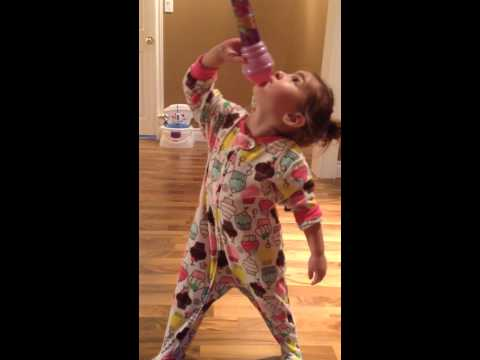 2 year old singing ROAR by Katy Perry