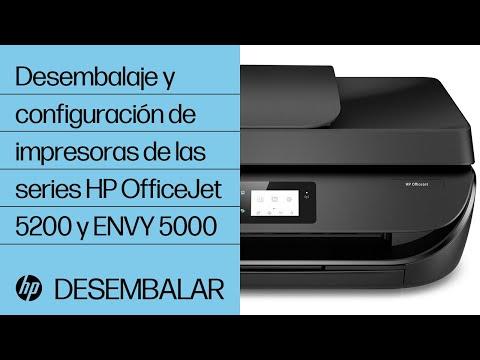 Desembalaje y configuración de impresoras de las series HP OfficeJet 5200 y ENVY 5000