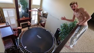 BEST INDOOR TRAMPOLINE SETUP EVER!!