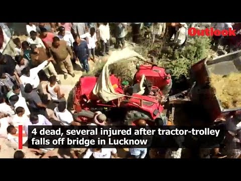 4 dead, several injured after tractor-trolley falls off bridge in Lucknow