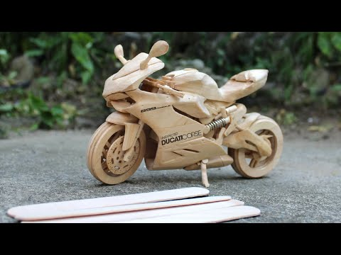 Building a Ducati 899 Panigale with Popsicle Sticks