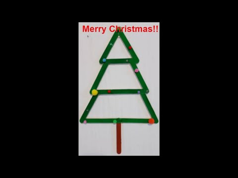 How to make Christmas tree with popsicle