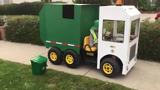 Garbage Truck Power Wheels: Custom Made Costume