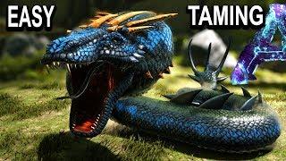 🐍ARK EASY BASILISK TAMING + ALL ABILITIES!! Ark Survival Evolved Aberration Basilisk Taming