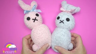 How To Make A Sock Bunny Plushie | Easter Crafts For Kids
