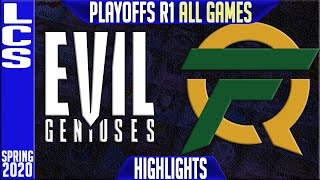 EG vs FLY Highlights ALL GAMES | LCS Spring 2020 Playoffs Round 1 | Evil Geniuses vs FlyQuest