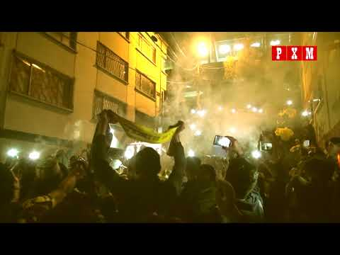 """Festejo de la hinchada de The Strongest - Primera final (The Strongest 2 - Wilstermann 1)"" Barra: La Gloriosa Ultra Sur 34 • Club: The Strongest"