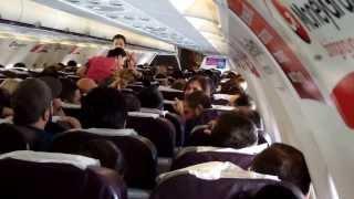 Полёт из ГРУЗИИ в Киев с поющими в самолёте грузинами (2013)
